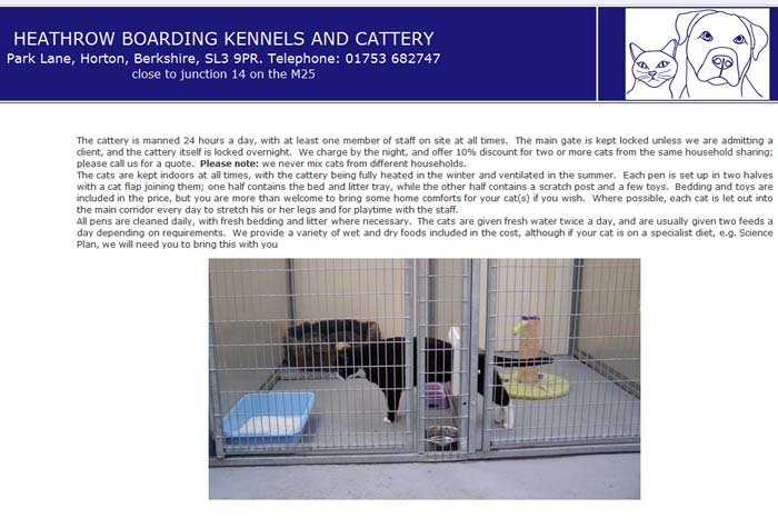 Heathrow Boarding Kennels and Cattery