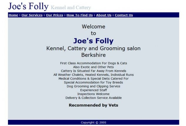 Joe's Folly Kennels and Cattery