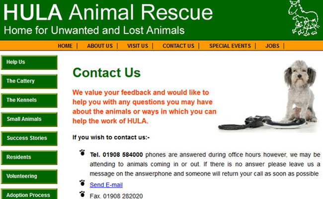 HULA Animal Sanctuary - Milton Keynes