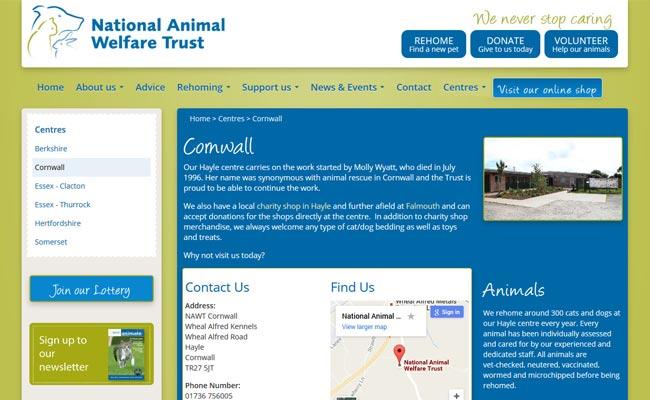 National Animal Welfare Trust - Hayle