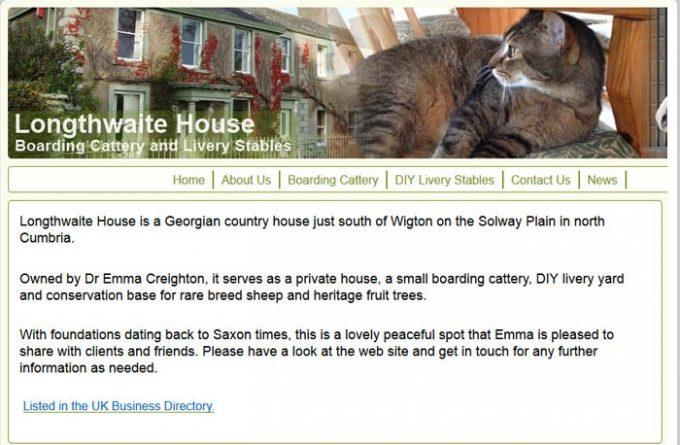 Longthwaite House Cattery