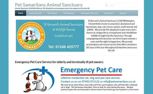 Pet Samaritans Animal Sanctuary - Chesterfield