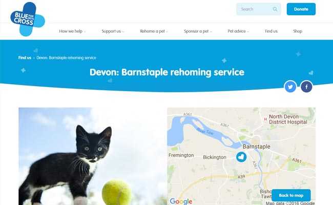 Blue Cross Rehoming Service - Barnstaple