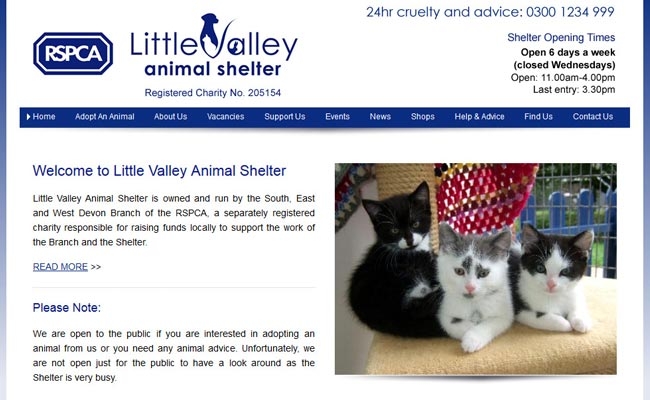 RSPCA Little Valley Animal Shelter - Exeter