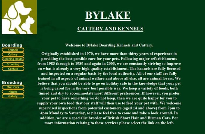 Bylake Boarding Kennels and Cattery