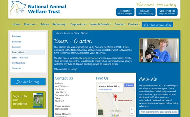 National Animal Welfare Trust - Clacton-on-Sea