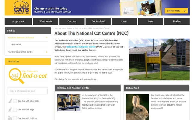 Cats Protection National Cat Centre - Haywards Heath