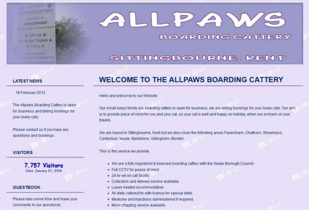 Allpaws Boarding Cattery