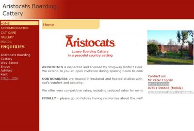 Aristocats Boarding Cattery