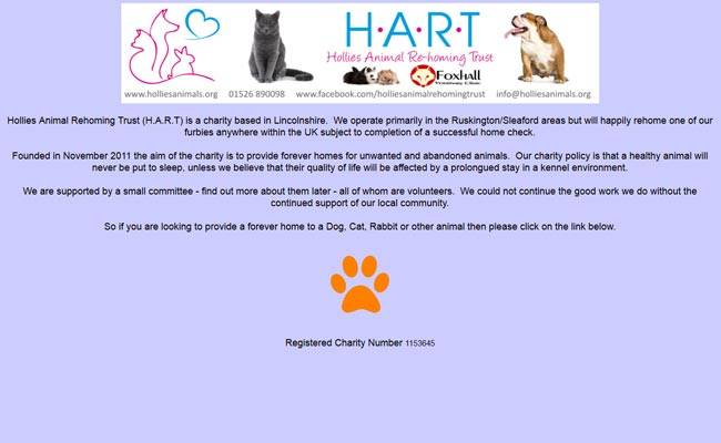 Hollies Animal Rehoming Trust - Sleaford