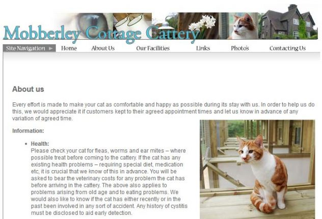 Mobberley Cottage Cattery