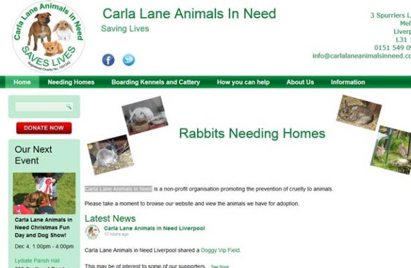 Carla Lane Animals In Need - Liverpool