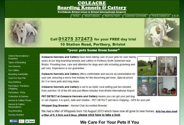 Coleacre Boarding Kennels and Cattery