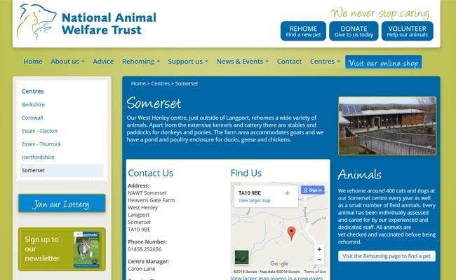 National Animal Welfare Trust - Langport