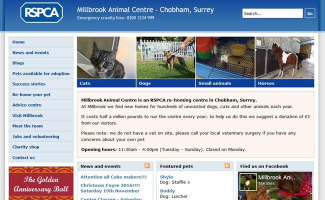 RSPCA Millbrook Animal Centre - Chobham