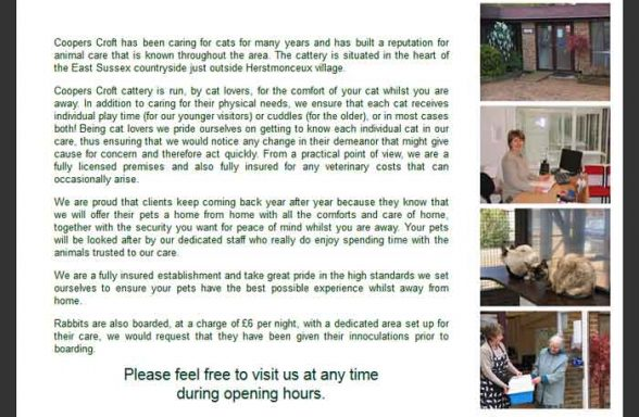 Coopers Croft Cattery