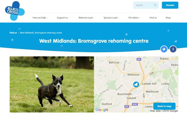 Blue Cross Rehoming Centre - Bromsgrove
