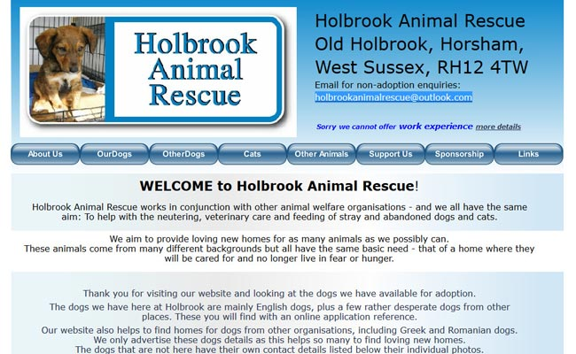 Holbrook Animal Rescue - Horsham